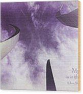 Soul In The Sky - Us Air Force Memorial Wood Print