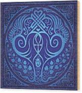 Soul Mates - Blue Wood Print