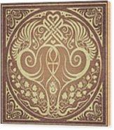 Soul Mates - Gold Wood Print