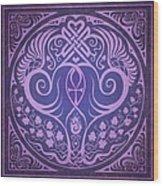 Soul Mates - Purple Wood Print