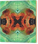 Soul Symphony - Abstract Art By Sharon Cummings Wood Print
