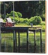 Sound Dock Wood Print