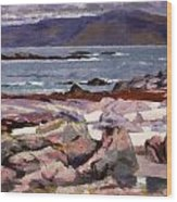 Sound Of Iona  The Burg From The North Shore Wood Print