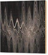 Sound Waves Wood Print