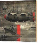 Sound Zeppelins Wood Print