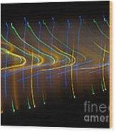 Soundcloud. Dancing Lights Series Wood Print