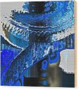 Sounder In Blue Wood Print