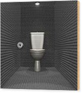 Soundproof Toilet Cubicle Wood Print