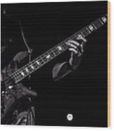 Sounds In The Night Bass Man Wood Print by Bob Orsillo