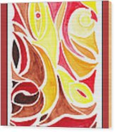 Sounds Of Color Doodle 2 Wood Print