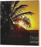 Sour Sunset Wood Print