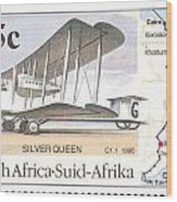 South Africa Stamp Wood Print