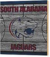 South Alabama Jaguars Wood Print