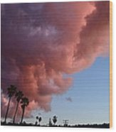 South Bay Clouds Wood Print