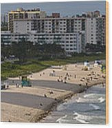South Beach Afternoon Wood Print