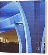 South Beach Bridge Wood Print