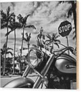South Beach Cruiser Wood Print