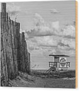 South Beach Lifeguard Shack Wood Print