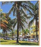 South Beach Miami Beach Wood Print