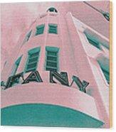 South Beach Miami Tiffany Hotel Tropical Art Deco Wood Print
