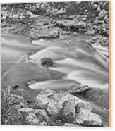 South Boulder Creek Little Waterfalls Rollinsville Bw Wood Print