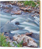 South Boulder Creek Little Waterfalls Rollinsville Wood Print