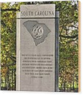 South Carolina At Gettysburg - Close 1 Wood Print