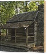 South Carolina Log Cabin Wood Print