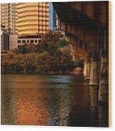 South Congress Bridge Wood Print