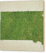South Dakota Grass Map Wood Print by Aged Pixel