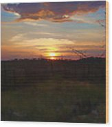 South Dakota Sunset 2 Wood Print