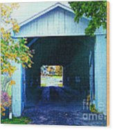 South Denmark Rd. Covered Bridge Wood Print