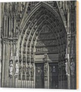 South Entrance Cologne Cathedral Wood Print