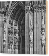 South Entrance Detail Cologne Cathedral Wood Print