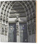 South Entrance Main Doors Wood Print