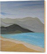 South From Cape Kiwanda Wood Print