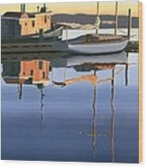 South Harbour Reflections Wood Print