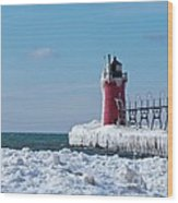 South Haven Ice Wood Print
