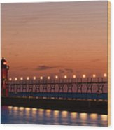 South Haven Reflection Wood Print