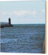 South Haven South Pierhead Light Wood Print