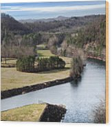 South Holston Dam View Wood Print