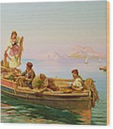 South Italian Fishing Scene Wood Print