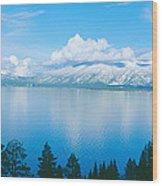 South Lake Tahoe In Winter, California Wood Print