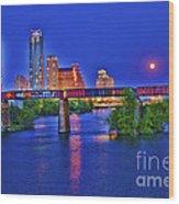 South Lamar Bridge Wood Print