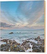 South Maui Sunrise Wood Print