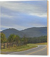 South Mountains Nc Wood Print