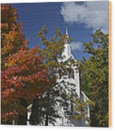 South New Hope Church - Fall Wood Print