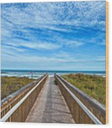 South Padre Island Walkway Wood Print
