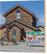 South Park House Wood Print