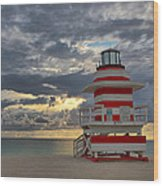South Pointe Park Lighthouse Wood Print